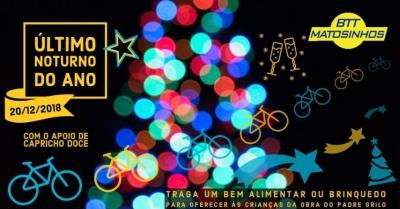 Último passeio noturno de ciclismo terá espírito natalício bem presente